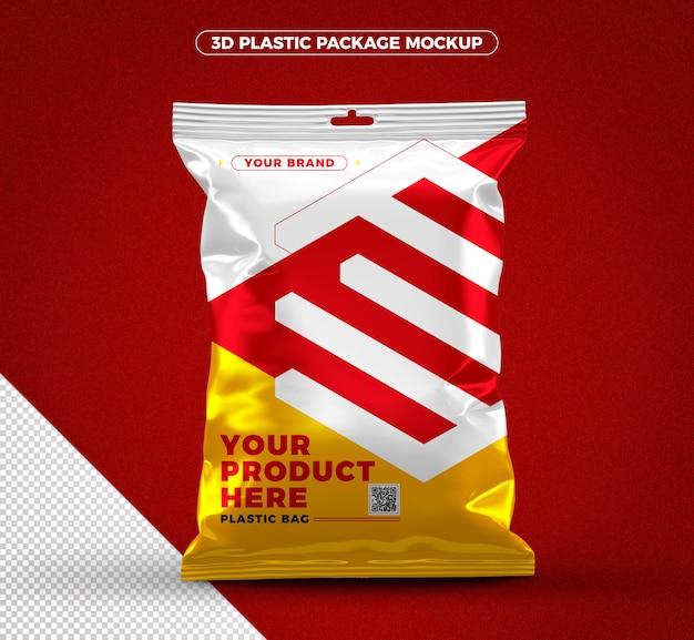 3d макет пластиковой упаковки