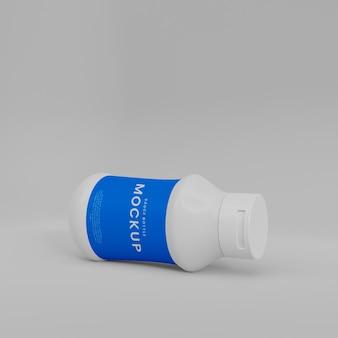 3d 플라스틱 소스 병 목업