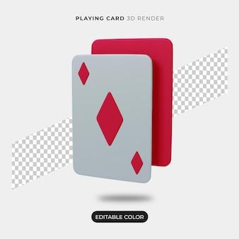 3d 재생 카드 아이콘 장면 작성자 절연
