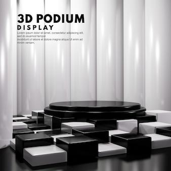 3d podium chess board concept