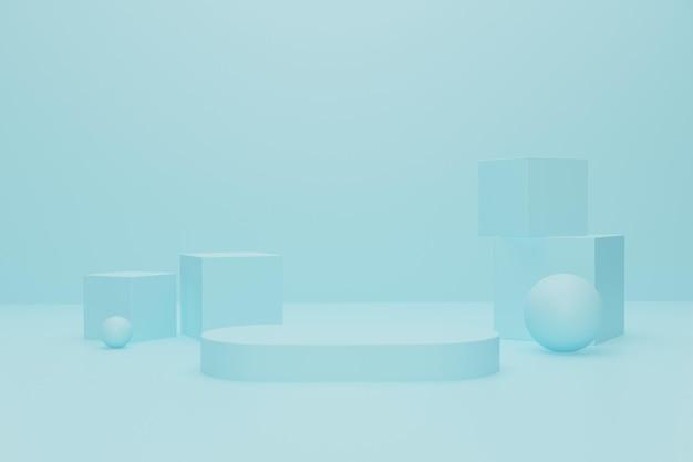 제품 전시를 위한 3d 연단