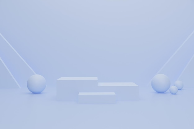 3d podium for product advertisement
