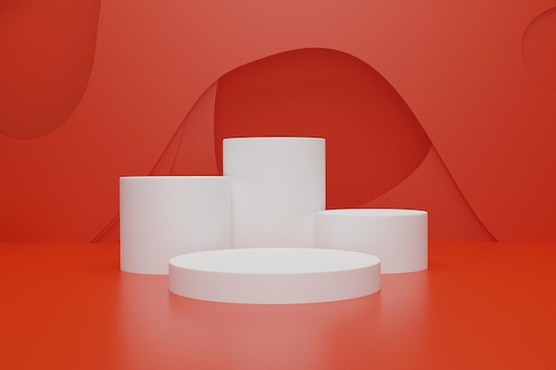 3d podium stage background for product advertisement