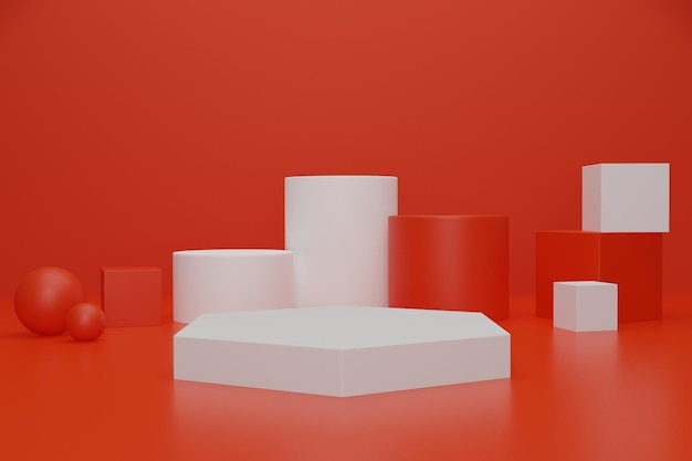 3d podium stage background for product advertising