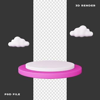 3d-подиум с облаком на прозрачном фоне