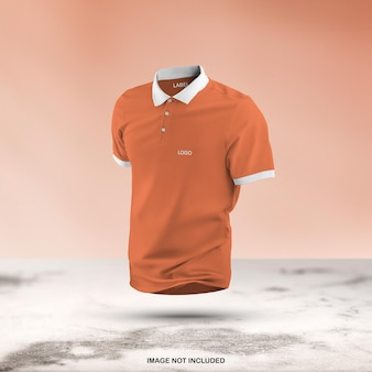 3d 폴로 t 셔츠 모형 디자인 절연