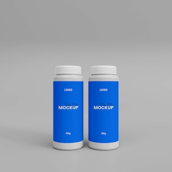 3d-макет бутылки с распылителем порошка