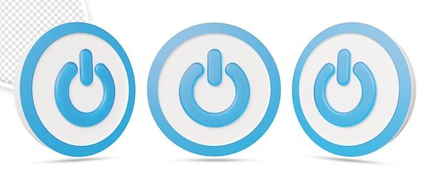 3d-кнопка питания в 3d-рендеринге