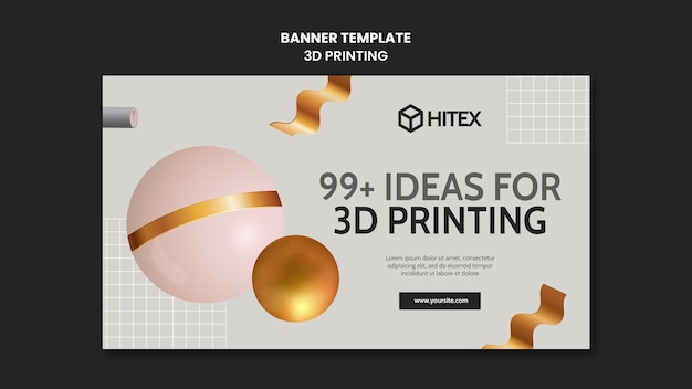 3d printing banner template