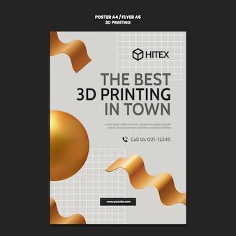 Modello di poster di stampa 3d