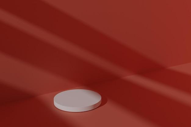 Подиум для продуктов 3d с абстрактной тенью