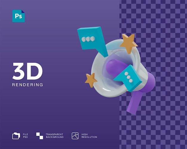3d значок продвижения в 3d-рендеринге изолированы