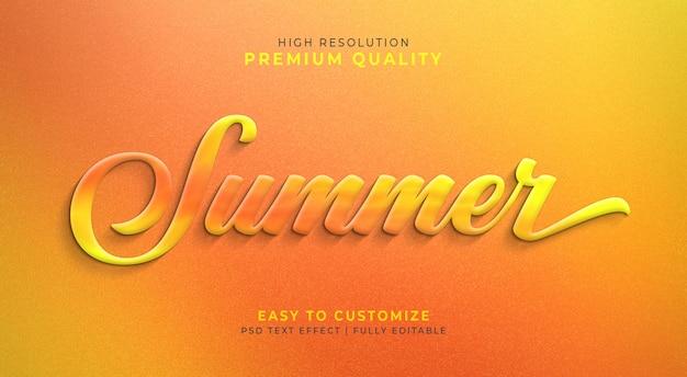 Редактируемый текстовый эффект 3d psd с летними цветами