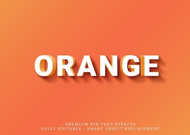 Оранжевый весело 3d текстовый стиль эффект psd
