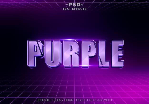 3d фиолетовый редактируемый текстовый эффект