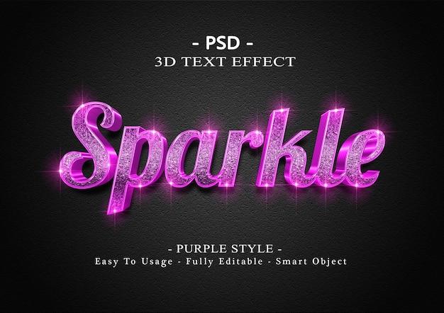 3d фиолетовый сверкающий текстовый эффект