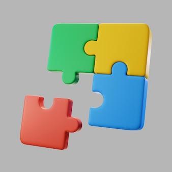 Pezzi di puzzle 3d