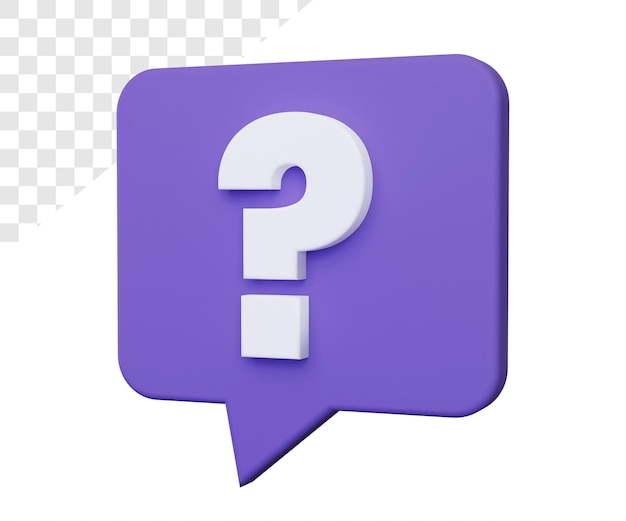 3d question mark or help rendering isolated