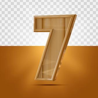 分離された3dリアル7番号木製テクスチャ