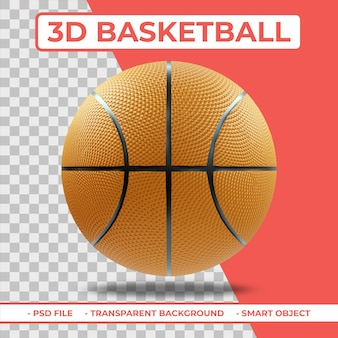 3d realistic basketball 3d rendering isolated