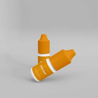 3d реалистичный макет глазной капельницы
