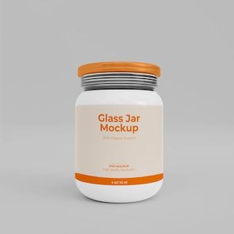 3dリアルなガラス瓶のモックアップ
