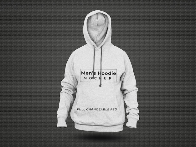 3d realistic hoodie mockup isolated