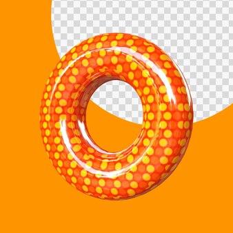 3d реалистичная буква o гелиевая фольга воздушный шар алфавит