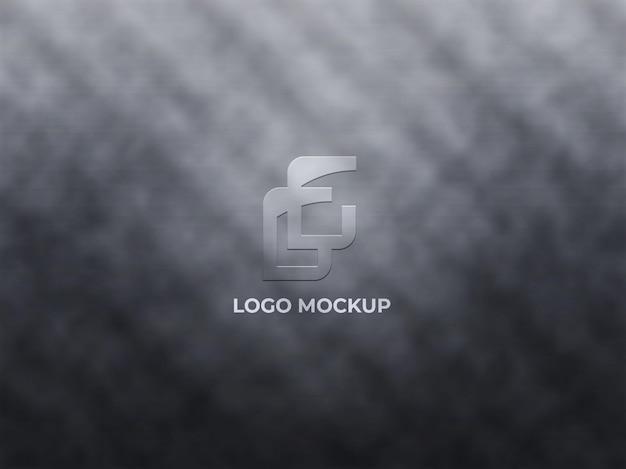 3d realistic logo mockup design