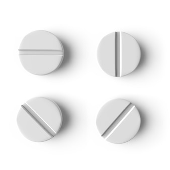 3d realistic medical pill