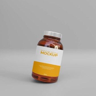 3d 현실적인 약 보충 병 목업