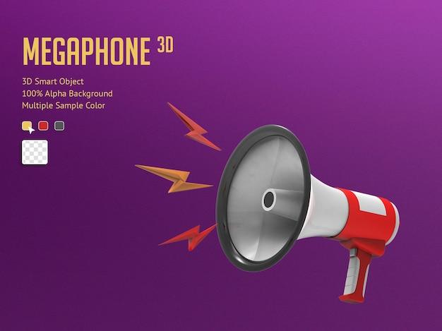 3d realistic megaphone