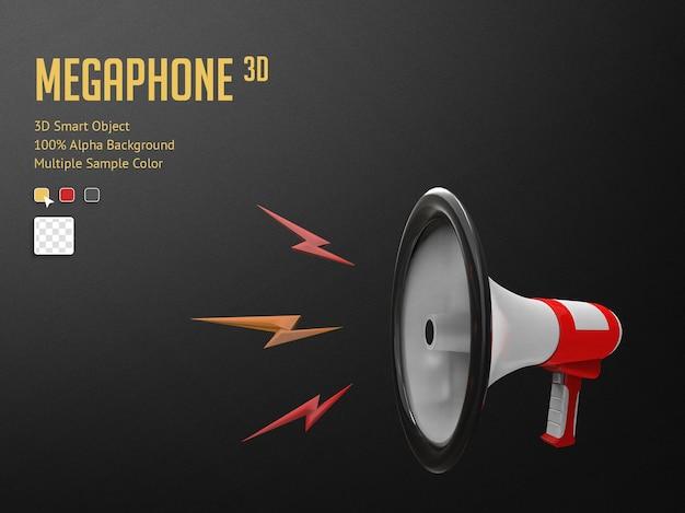 3d реалистичный мегафон