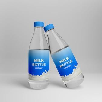 3d реалистичный макет бутылки молока