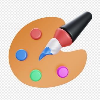3d реалистичная палитра красок изолирована