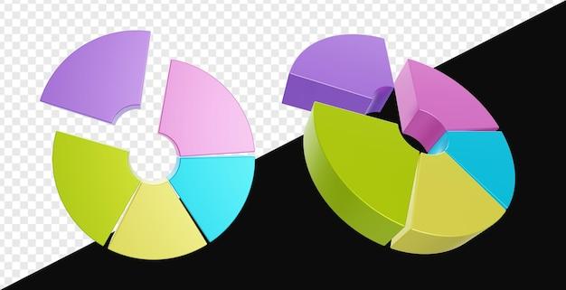 3d реалистичная круговая диаграмма изолированы