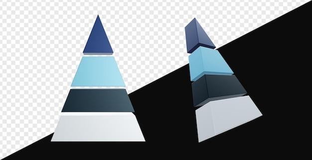 3d реалистичная диаграмма пирамид изолирована