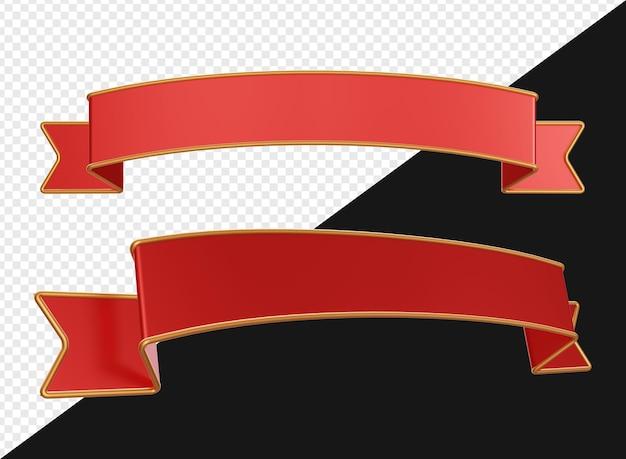 3d реалистичная красная золотая лента баннер изолированные