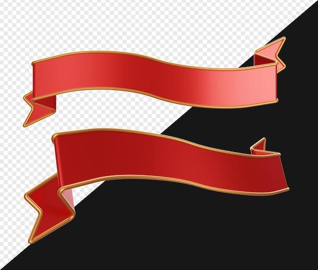 3d реалистичные красные ленты баннер изолированные