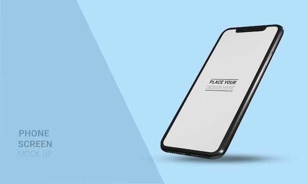 3d реалистичный макет смартфона изометрическая проекция