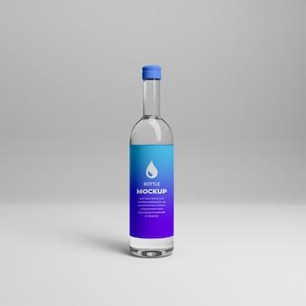 3dリアルな透明ボトルモックアップ