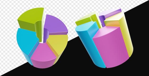 3d реалистичная трубка круговая диаграмма изолирована