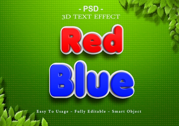 3d red and blue text effect