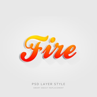3d red gradient text style effect