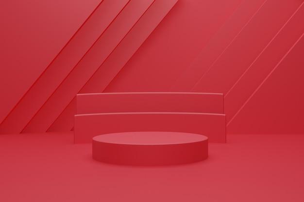 3차원, 빨강, 연단, 배경, 디자인