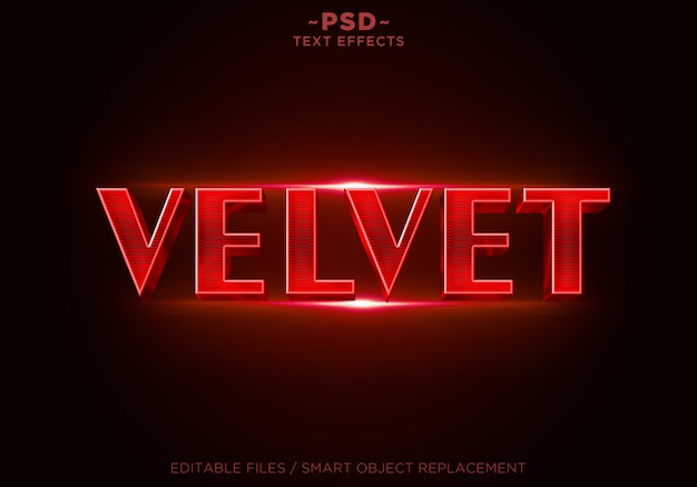3d red velvet effects editable text