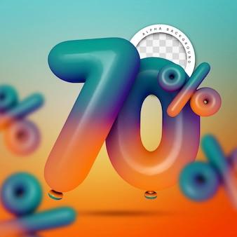 3d render of 70 percent