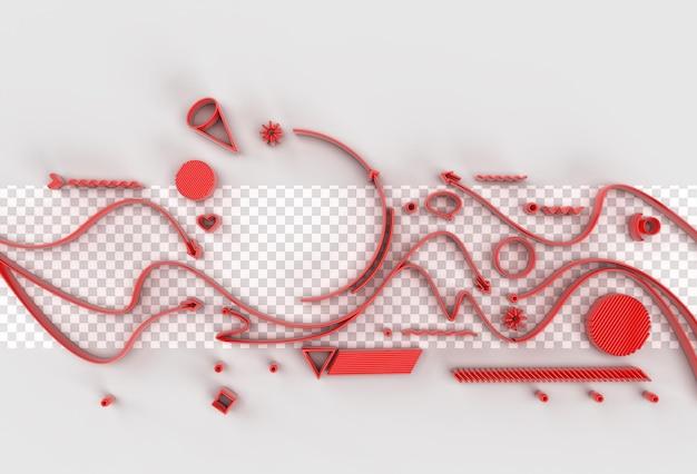 텍스트 투명 psd 파일의 공간으로 3d 렌더링 추상적인 배경
