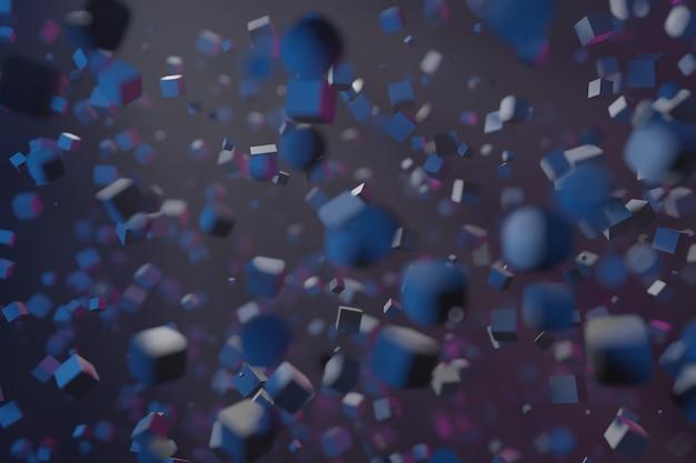 3d визуализация абстрактных форм фона