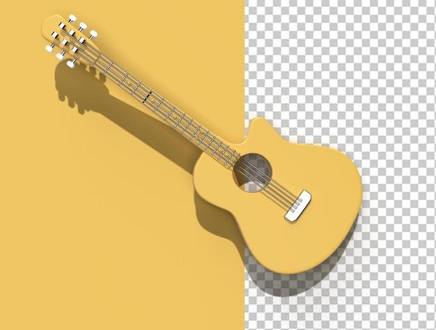 3d render acoustic guitar